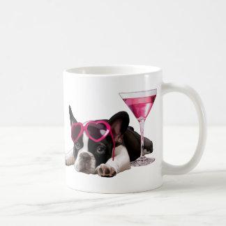 Perrito del dogo francés taza