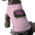 Perrito del flower power camisetas de perro