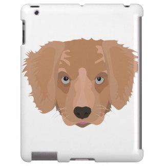 Perrito del golden retriever del ejemplo funda para iPad