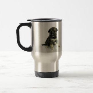 Perrito del híbrido del husky siberiano del taza de viaje de acero inoxidable