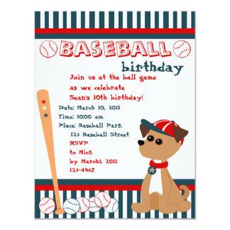 """¡Perrito del home run! Invitación 4.25"""" X 5.5"""""""