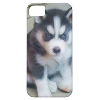 Perrito del husky siberiano funda para iPhone 5 barely there
