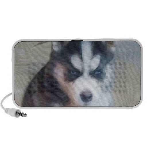 Perrito del husky siberiano iPod altavoz