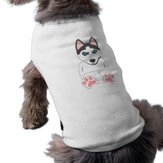 Perrito del husky siberiano playera sin mangas para perro