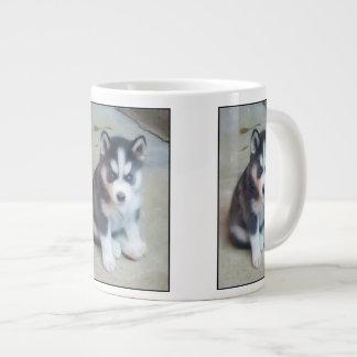 Perrito del husky siberiano taza grande