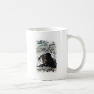 Perrito del león marino tazas