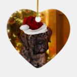 Perrito del mastín del navidad ornamento de reyes magos