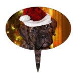 Perrito del mastín del navidad decoración de tarta