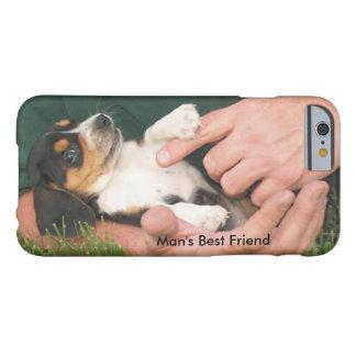 Perrito del mejor amigo del hombre funda de iPhone 6 barely there