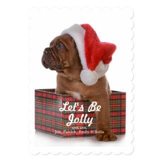 """Perrito del navidad como Santa Invitación 5"""" X 7"""""""