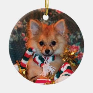 Perrito del navidad ornamentos de reyes magos