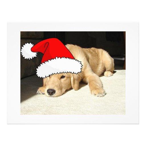 "Perrito del navidad del golden retriever folleto 8.5"" x 11"""