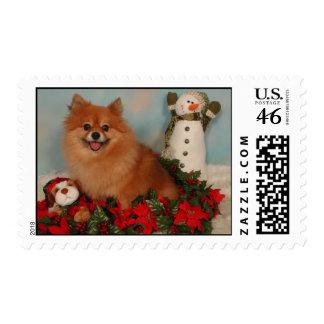 Perrito del navidad sello
