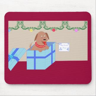 Perrito del navidad tapetes de raton