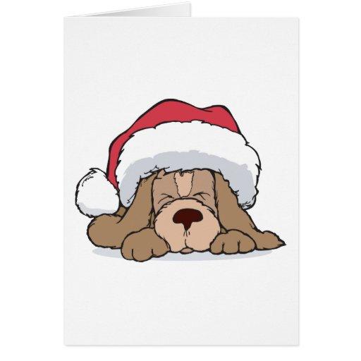 Perrito del navidad tarjeta de felicitación
