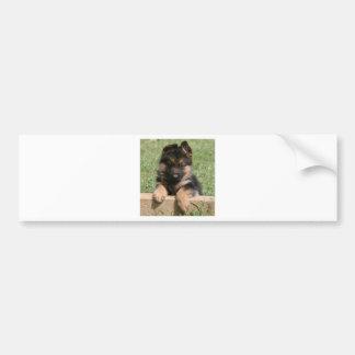 Perrito del pastor alemán pegatina de parachoque
