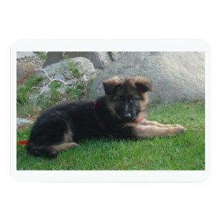 """perrito del pastor alemán que pone 2.png invitación 5"""" x 7"""""""