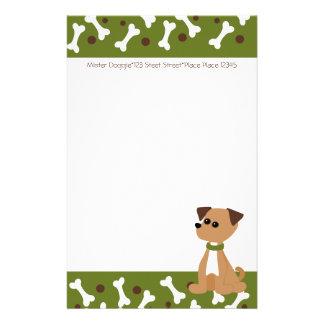 Perrito del perrito en verde  papeleria de diseño