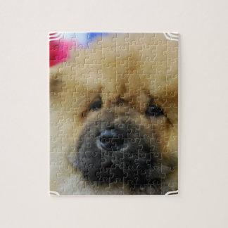 Perrito del perro chino de perro chino rompecabezas con fotos