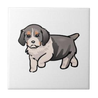 Perrito del perro de aguas de saltador azulejo cuadrado pequeño