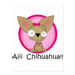 Perrito del perro de la chihuahua postal