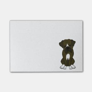 Perrito del perro del boxeador post-it nota