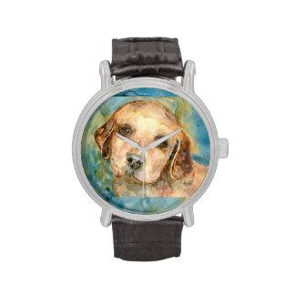 Perrito del perro perdiguero relojes de mano
