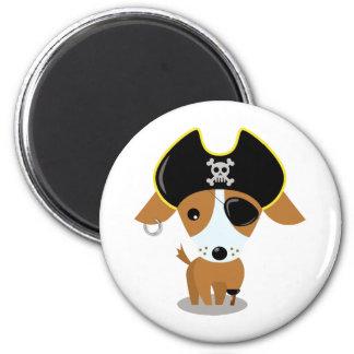 Perrito del pirata imán redondo 5 cm