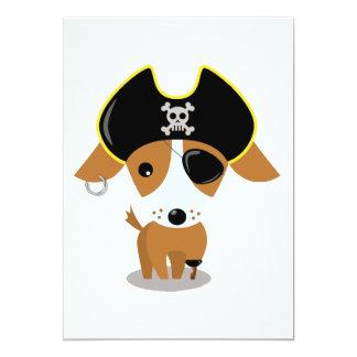 Perrito del pirata invitación 12,7 x 17,8 cm