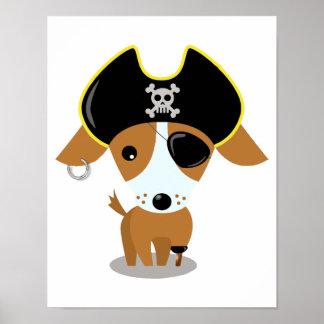 Perrito del pirata póster