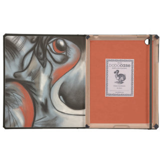 Perrito del remiendo en cajas azules del iPad