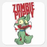 Perrito del zombi colcomanias cuadradases