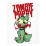 Perrito del zombi membretes personalizados