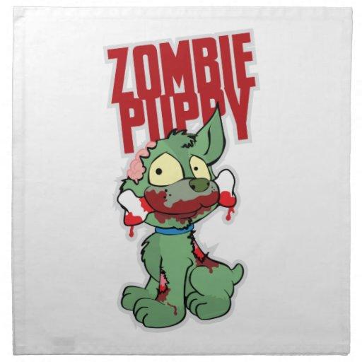 Perrito del zombi servilleta de papel
