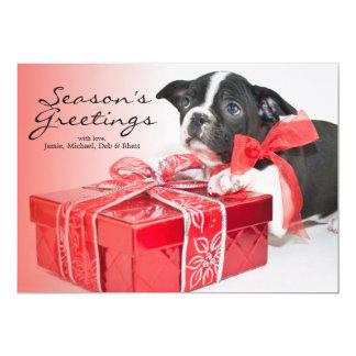 "Perrito dulce de Boston Terrier Invitación 5"" X 7"""