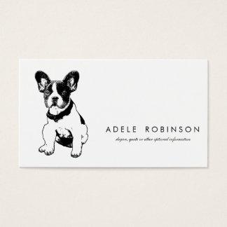 Perrito dulce lindo del dogo francés tarjetas de visita