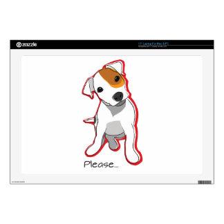 """Perrito dulce """"por favor"""" 17"""" de Jack Russell piel 43,2cm Portátil Calcomanía"""