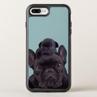 Perrito en la cabeza de su madre funda OtterBox symmetry para iPhone 7 plus