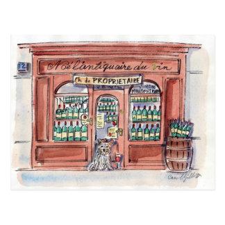 Perrito en la ruda Malar, París Postal