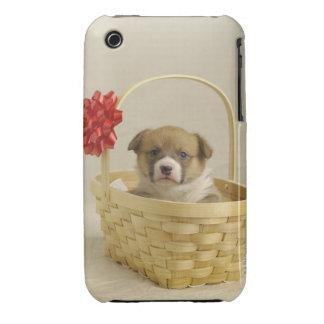Perrito en una cesta iPhone 3 Case-Mate carcasa
