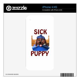 Perrito enfermo skins para eliPhone 4