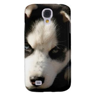 Perrito espigado soñoliento del husky siberiano de funda para galaxy s4