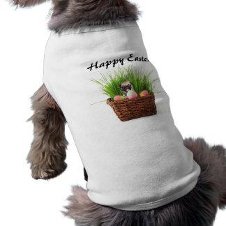 Perrito feliz del barro amasado de Pascua Camisas De Perritos