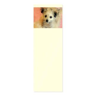 Perrito flojo adorable del rescate del oído tarjetas de visita mini