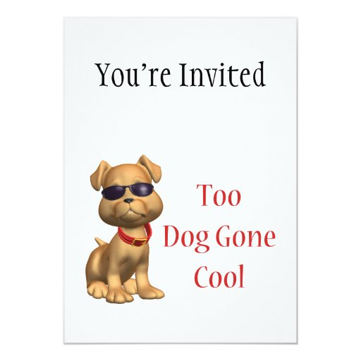 "Perrito fresco ido perro invitación 5"" x 7"""