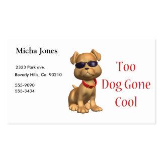 Perrito fresco ido perro tarjeta de negocio
