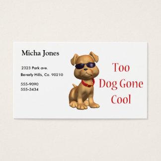Perrito fresco ido perro tarjetas de visita