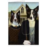 perrito-gótico tarjeta