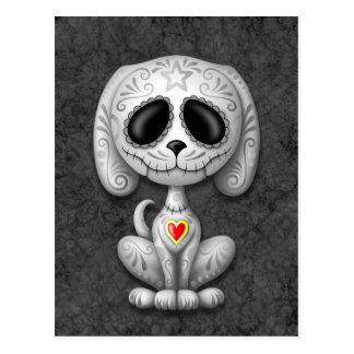 Perrito gris del azúcar del zombi tarjeta postal