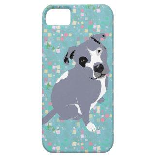 Perrito gris lindo de Pitbull en modelo de los iPhone 5 Fundas